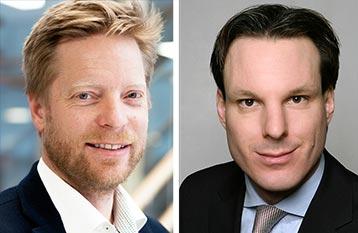 Mikkel Skou, Director of Veracity at DNV GL and Thilo Dückert, StormGeo VP, Fleet Performance Management