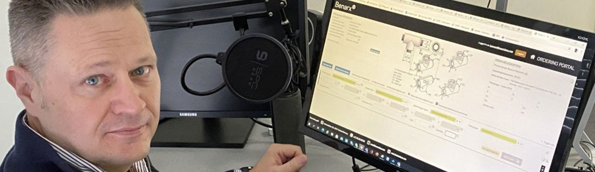 Focus on the customer: - We have made the order portal as user-friendly as possible, so that it will be easy to set up an RFQ (request for quote) or an order and not least that the correct product is ordered, says Kent Moore in Beerenberg.
